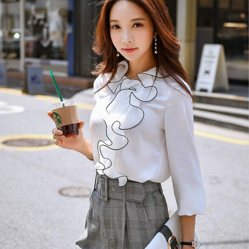Reasonable Dabuwawa Long Sleeve Blouse Shirt Women Tops Blusas Casual Black Plaid Shirt Feminine Blouses 2018 Ruffle Blouse Chemise Femme Women's Clothing