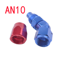 10 AN AN-10 Pipe Joints Aluminum 45 Degree Enforced Oil/Fuel Fitting Adapter Car Accessories Connector AN 10 Hose End Fitting