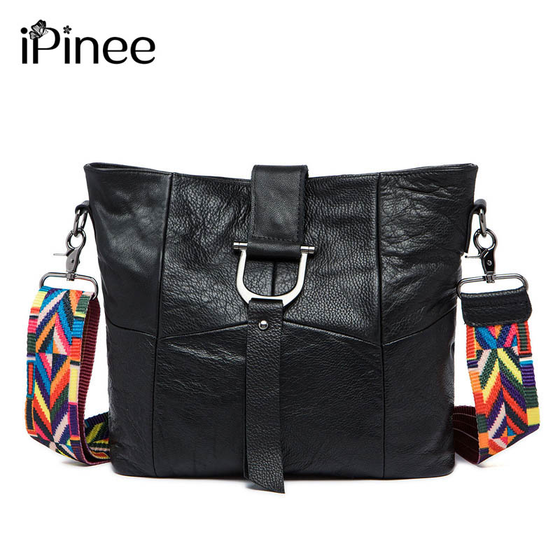 New arrival cowhide leather handbags fashion genuine leather cross body bags brand women messenger bags