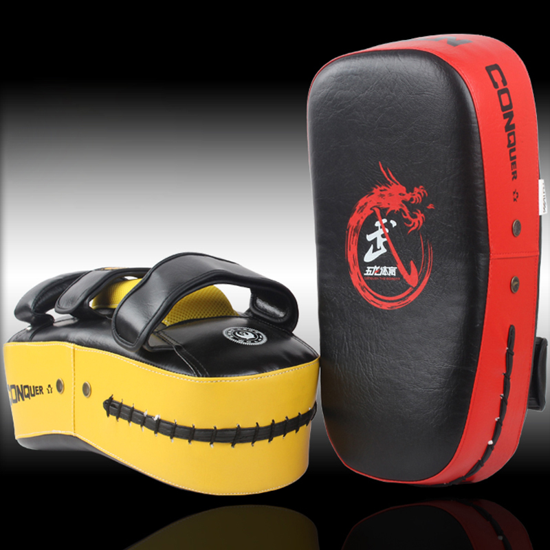 Boxing Equipment Muay Thai Kick Boxing Strike Curve Pads Punch MMA Focus Luva Boxeo Foot ...