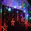 Cortina Estrela RGB Luz Fantasia de Fada Luz LED String para Luzes de Fadas do casamento do Natal Xmas Party Início Jardim Quarto de Hotel decoração