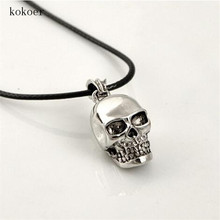 Mix order new arrival personalized skull pendant stainless steel necklaces best gift for man chain long chokers necklace for men