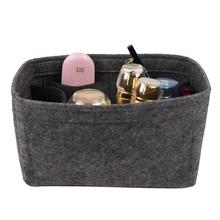 Multifunctional Felt Storage Bag Multiple Compartments Wash Pack Cosmetic Bag Organizer Stylish And Simple Travel Organizer New