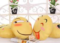 Cartoon Funny Expression Pillow Smiling Face Back Fear Face Network Expression Good Gift 38CM Diameter Free