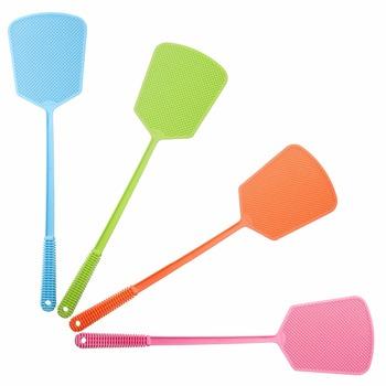 Multicolor zagęścić plastikowe Fly Swatter instrukcja Swat Mosquito Pest Control z długim uchwytem narzędzia do zwalczania szkodników artykuły domowe tanie i dobre opinie DHZ001 Plac