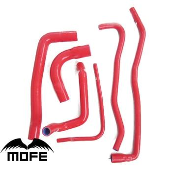 MOFE 6PCS 100% Silicone 3 Plys Original Logo Silicone Heater Coolant Radiator Hose Kit For Saab 9000 1991-1998