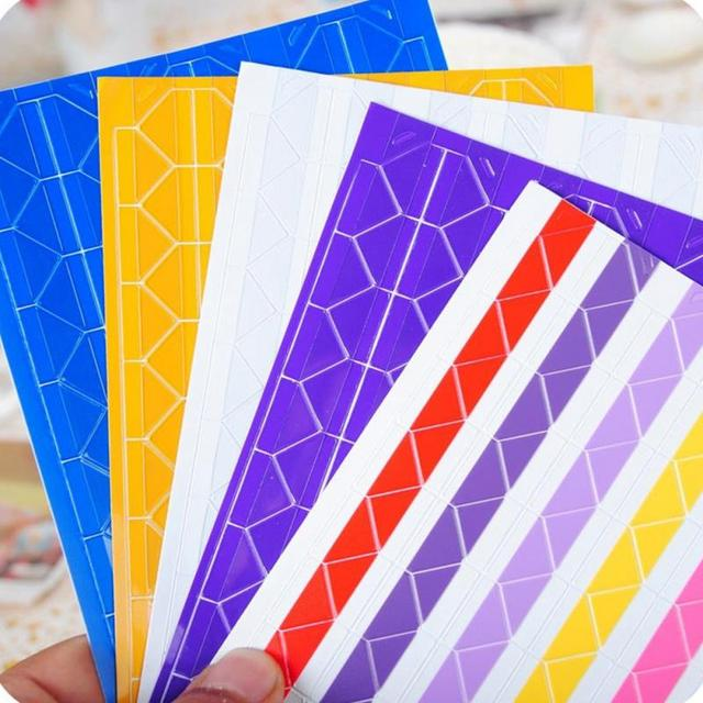 pvc stickers mini home decor diy colorful corner scrapbook