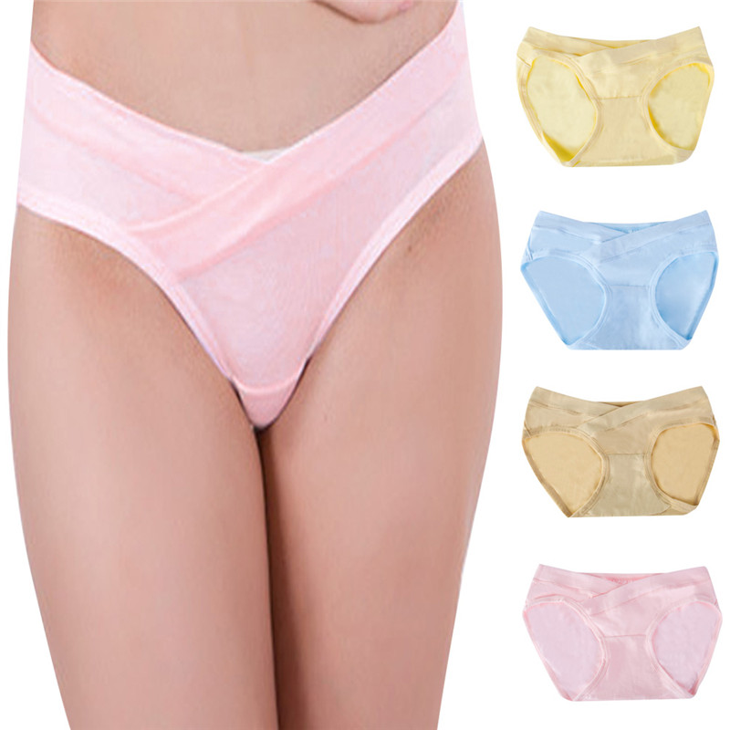 Maternity Pregnant Low-waist Panties Maternity Solid Color Briefs Pregnancy Women Lingerie Underwear Clothing