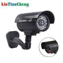 Поддельная камера LINTIANCHENG, водонепроницаемая наружная камера видеонаблюдения со светодиодной подсветкой, камера наблюдения для дома/улицы