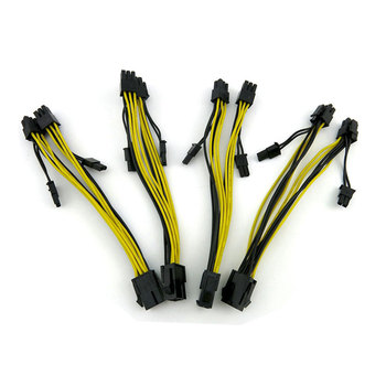 18AWG PCI-E 6pin to Dual 8Pin(6+2Pin)/ 6Pin Splitter Extension Cable image