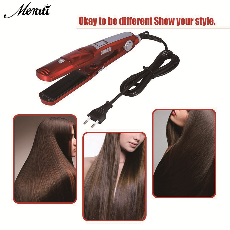 Steam Comb Straightening Hair Irons Automatic Straight Hair Brush Temperature Display Electric Fast Hair Straightener Tools 2017 hair straightener brush electric straightening irons straight steam comb with lcd display hair care tools styling