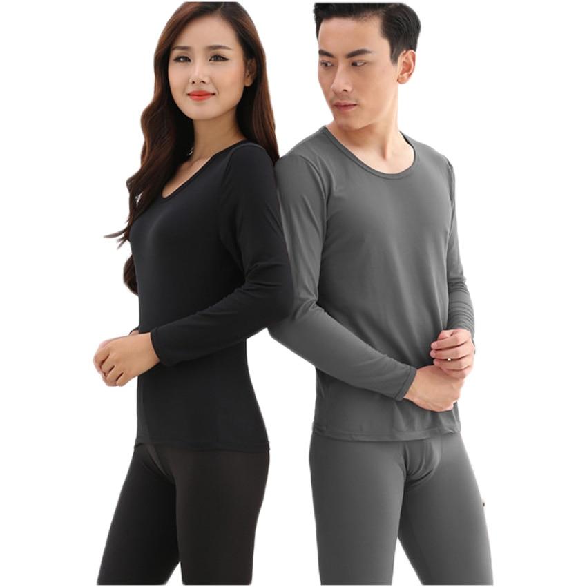 Free shipping Long Johns Thermal Underwear Men Women Sleepwear Winter Pajamas Thickening Couples Shapewear 15hfx