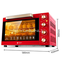 Multifunctional Mini Oven Electric Oven 46L Household Horno Electric Baking Oven Mechanical Control Electric Baking Stove DR 64M