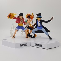 One Piece Ace Luffy Sabo FIre Fist Three Brothers One Piece Action Figure PVC Figurine One Piece Anime Toys