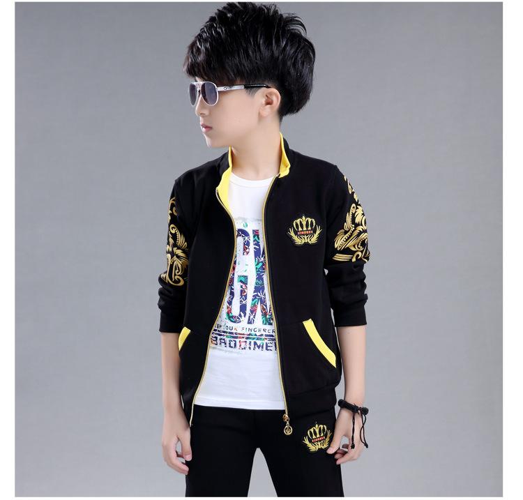baby girl boy clothes Kids Boys spring new sports leisure suit children two piece children sweater