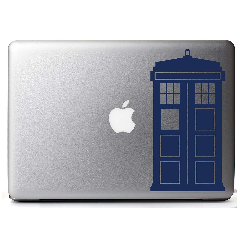 Doctor Who Tardis Decal Sticker (4, Dark Blue)