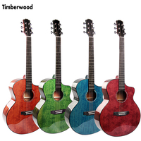 41 inch Cutaway Guitar Solid Sitka Spruce Sapele Acoustic Guitar colorful Guitar blue green 6 Strings Accessories AGT115