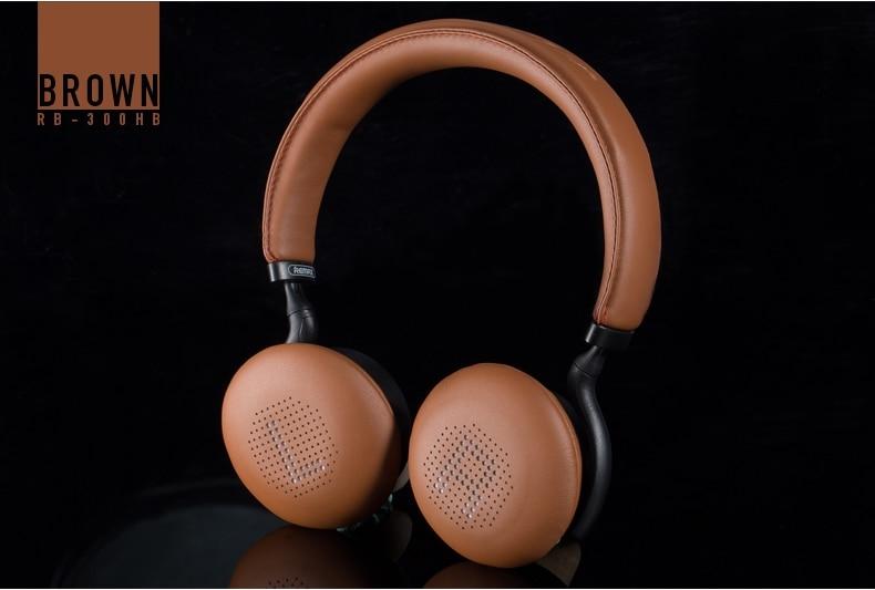 Remax RB-300HB 300HB tête tactile sans fil Bluetooth casque musique amateur interface auxiliaire de haute qualité - 6