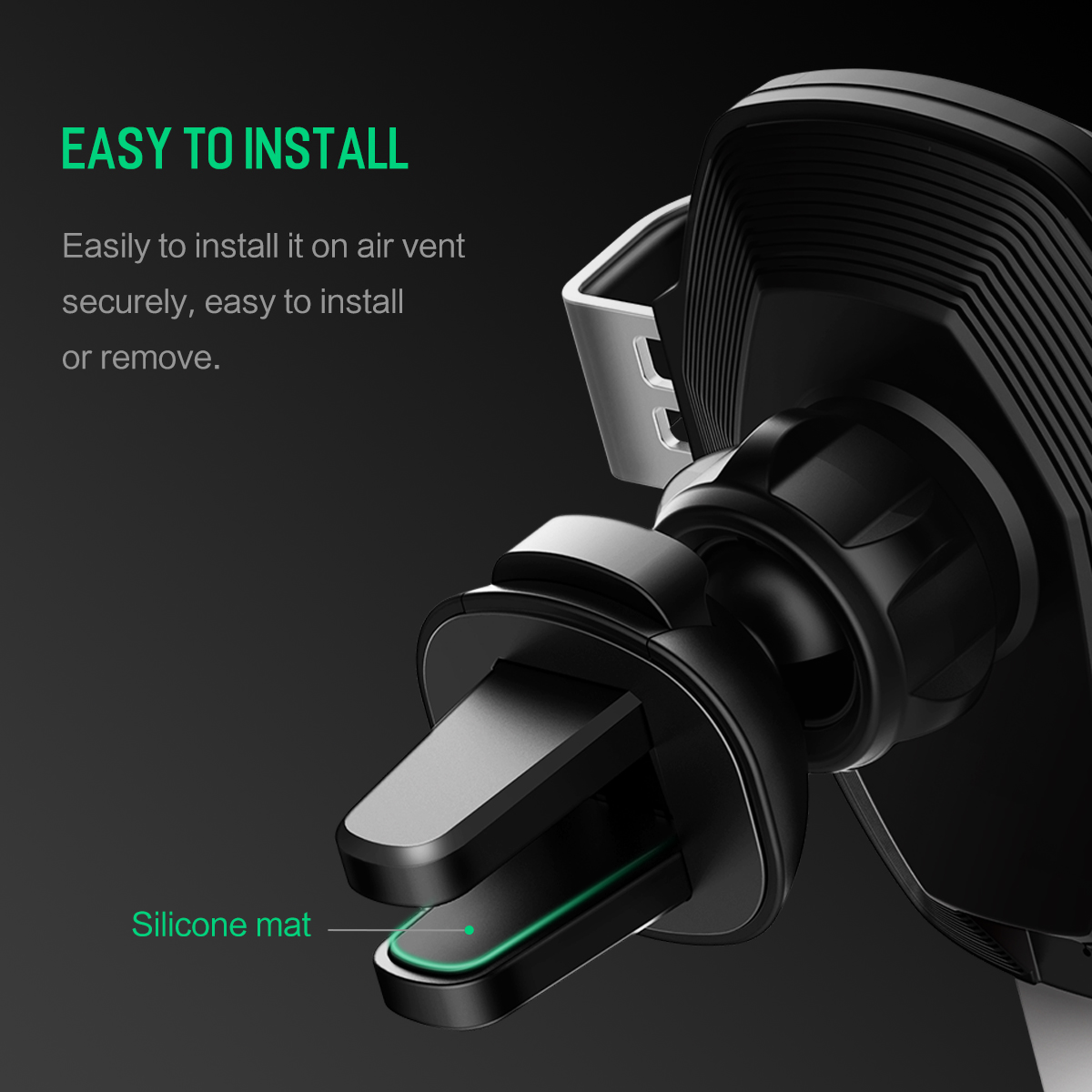 HTB15xcQKeOSBuNjy0Fdq6zDnVXaC - 10W QI Wireless Car Charger Gravity Holder , ROCK for iPhone X 8 Plus Samsung Galaxy S8 S7 Note 8 Quick Charge Charging Stand