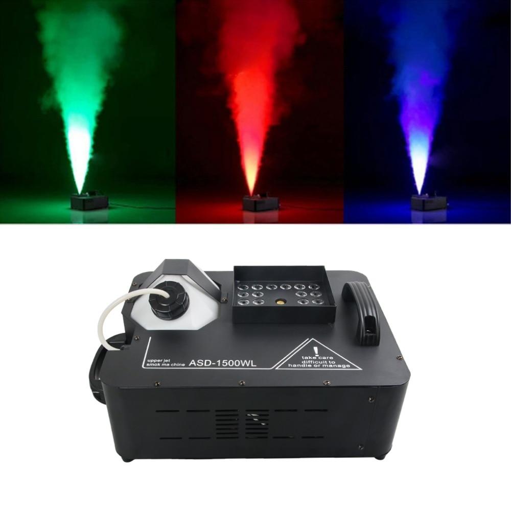 1500 w RGB LED DMX Contrôle Couleur Brouillard Machine À Fumée À Distance Buée Machines pour la Scène DJ Accueil Parti De Mariage Effet