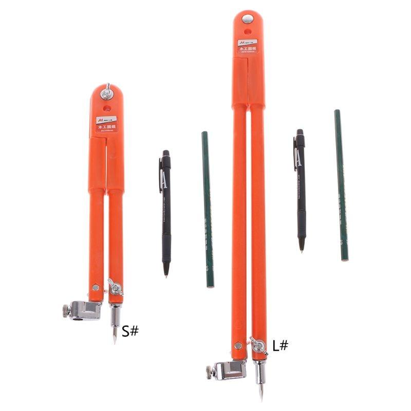 Carpenter Precision Pencil Compasses Large Diameter Adjustable Dividers Edge Marking Scribing CompassCarpenter Precision Pencil Compasses Large Diameter Adjustable Dividers Edge Marking Scribing Compass