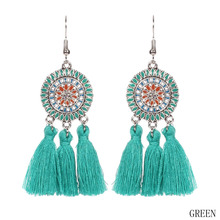 Long Colorful Tassel Earrings