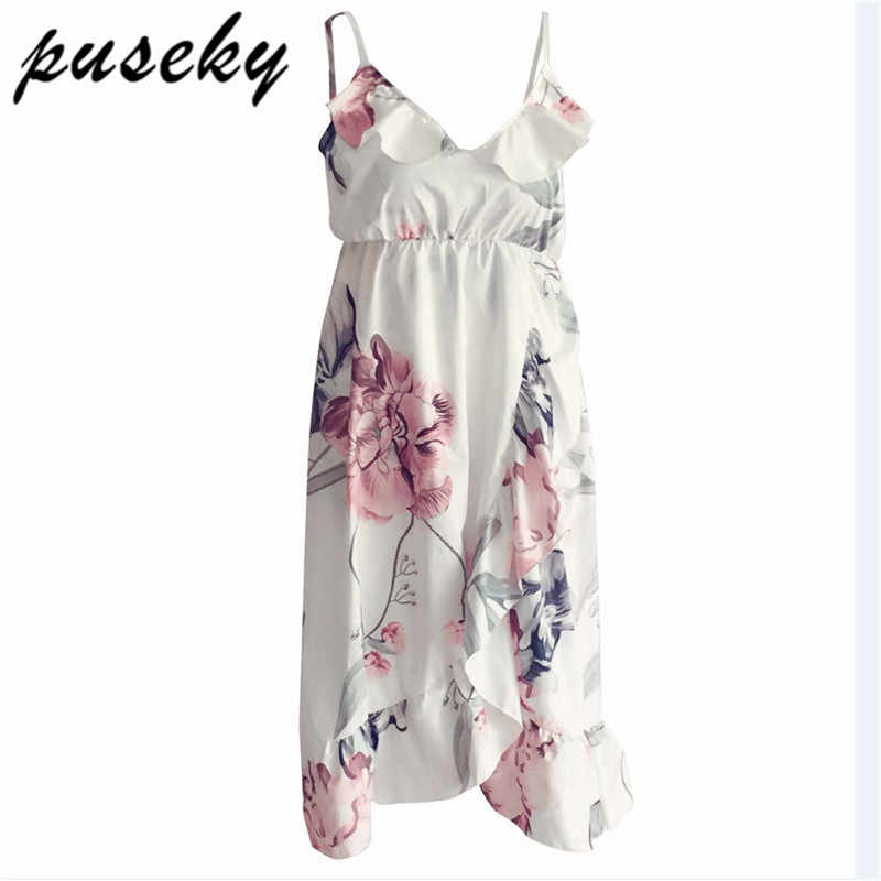 Puseky/платье с цветочным принтом и ремешками; удобное платье для беременных; одежда с оборками для беременных