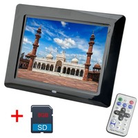 8 Inch Digital Photo Frame 8 GB LED Backlight High Definition 800x480 Electronic Album Picture Music Video Porta Retrato Digital