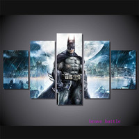 Batman Movie Poster Justice League 5 Pieces Canvas Painting Print Living Room Home Decor Modern Wall Art Oil Painting