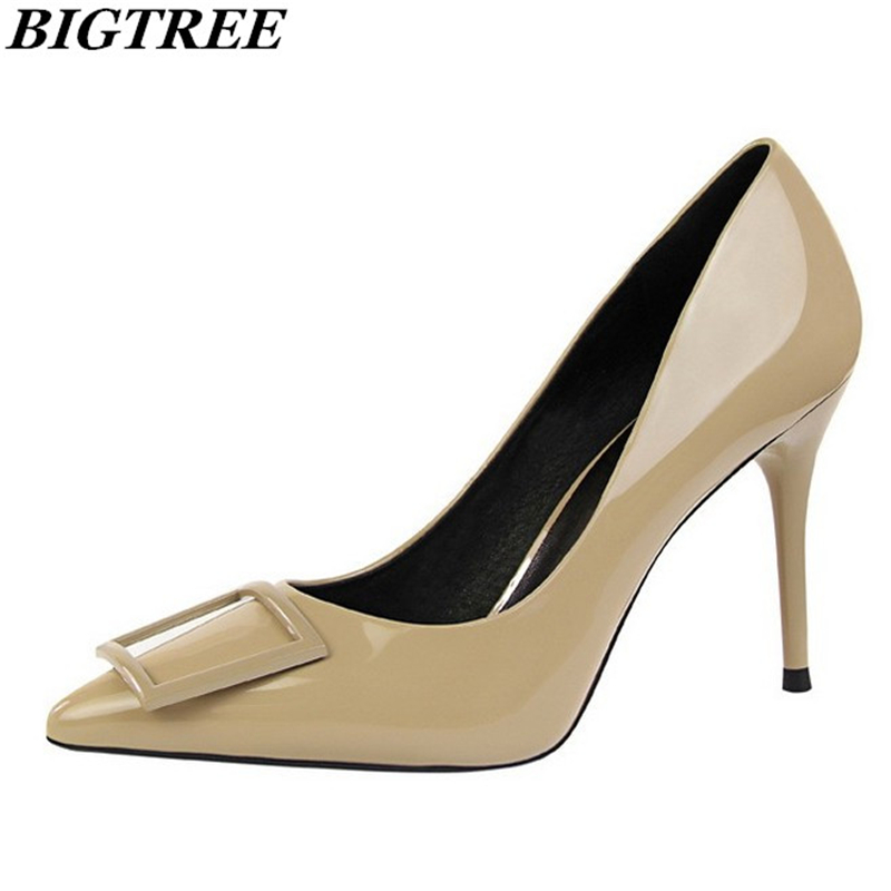 Brand elegant autumn high-heeled banquet shoes retro women shallow mouth high heels simple and comfortable female dress shoes