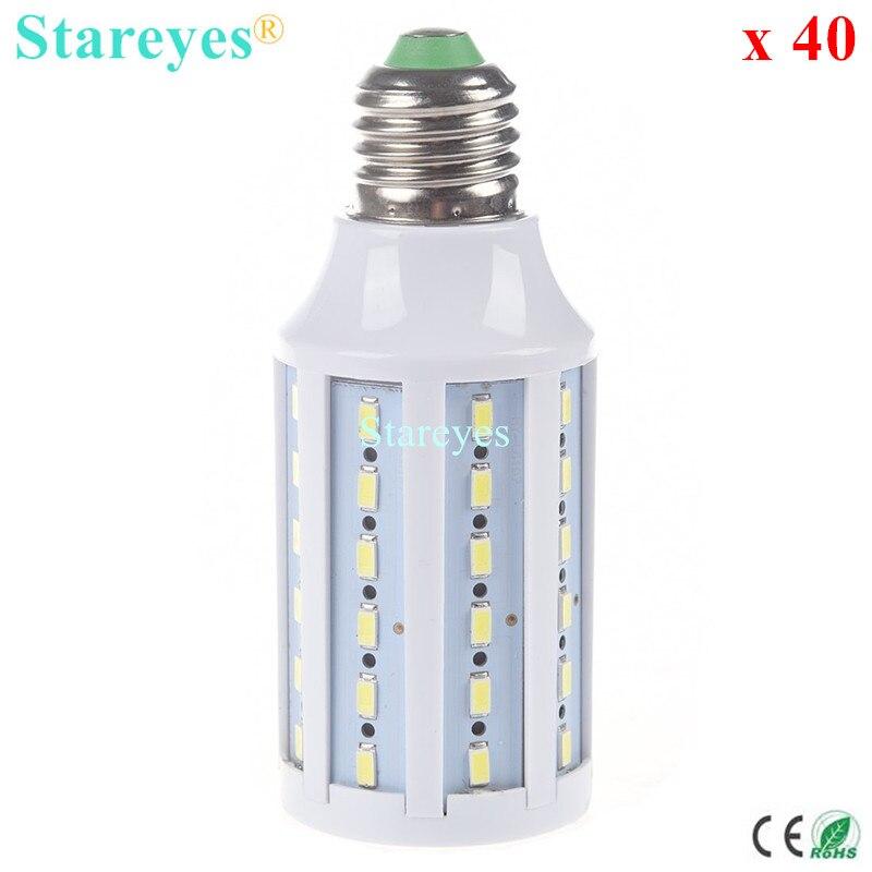 Free shipping 40 pcs E27 E14 B22 15W 5630 5730 SMD 60 LED AC110V 220V LED