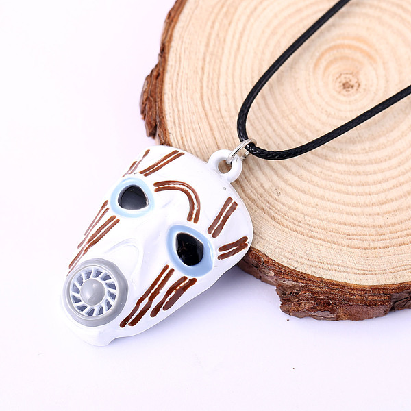 Borderlands Necklace Cool White Mask Pendant Rope Chain Necklaces Game Fans Wholesale And Retail WR-256 image