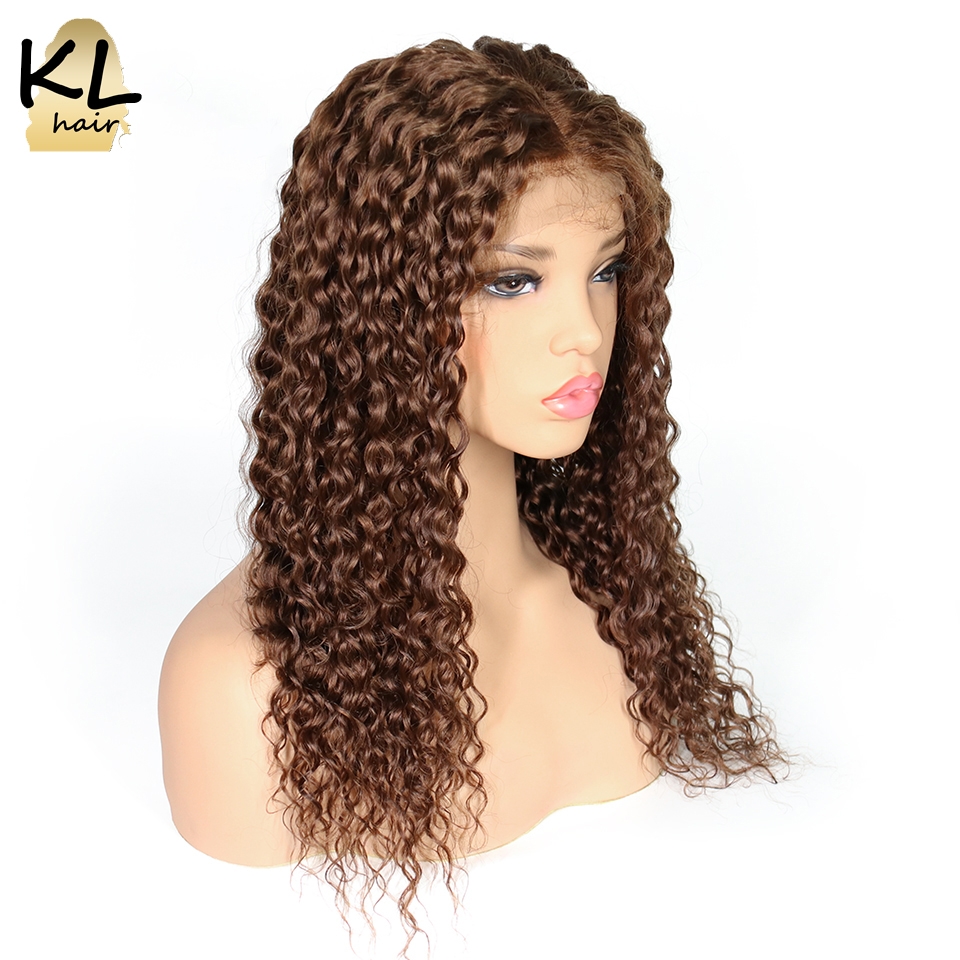 Deep Curly Lace Front Human Hair Wigs With Baby Hair Pre Plucked Brazilian Remy Hair Lace