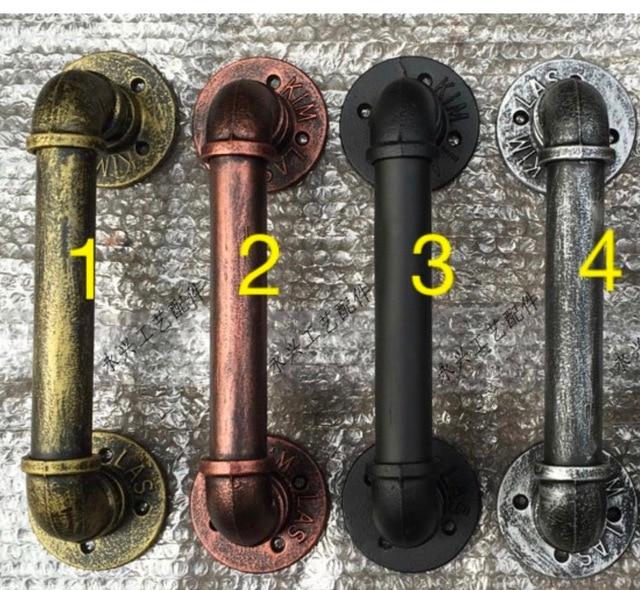 1Pieces/Lot  L:18cm Retro Bar Cafe Music Club KTV Doorknobs DIY Industrial Pipe Handle