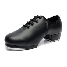 Sneaker Dance Adult Lace Stage Performance Cowhide Soft Bottom Tap Shoes Man Tap Sports Dancing Children Male Dance Shoes Men