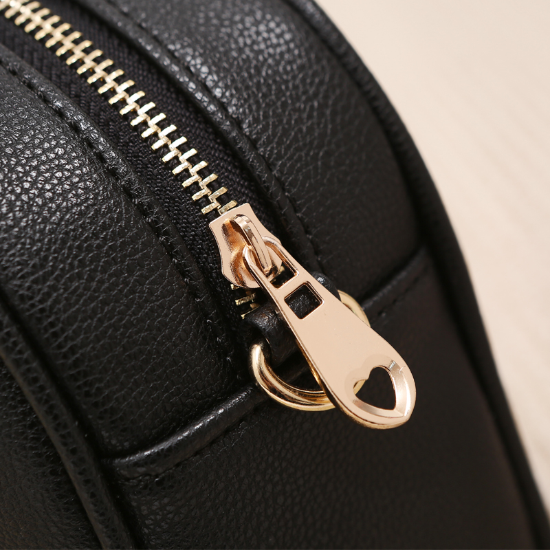 ZOORON Women Small Bag 2017 Summer New Girls PU Leather Messenger Bags Lady Circular Mini Chain Shoulder Bag Crossbody Bag