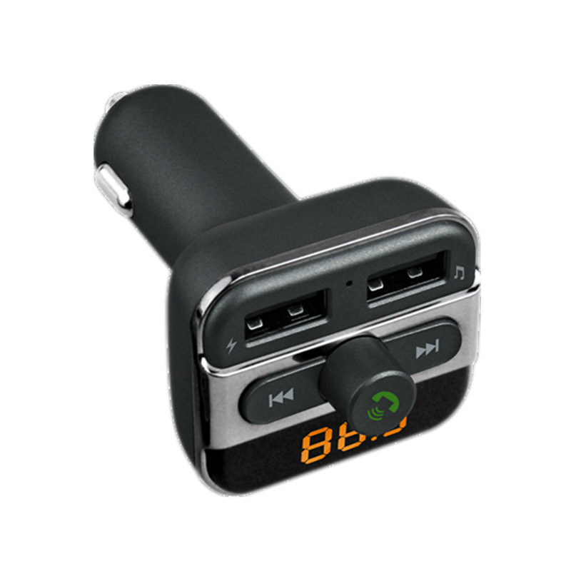 Car Bluetooth MP3 Handsfree Car Kit +FM Transmitter +3.4A Car Charger 1.1 Inch Wirelessly Transmit Phone Call From Bluetooth