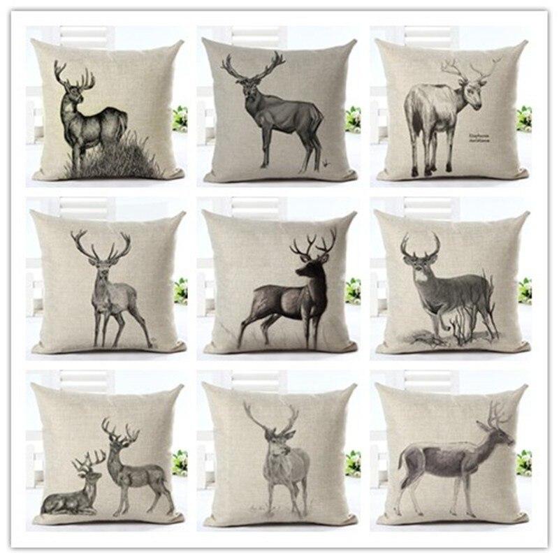 ▻Fashion Style Houseware Home Decor Cojines Simple Reindeer