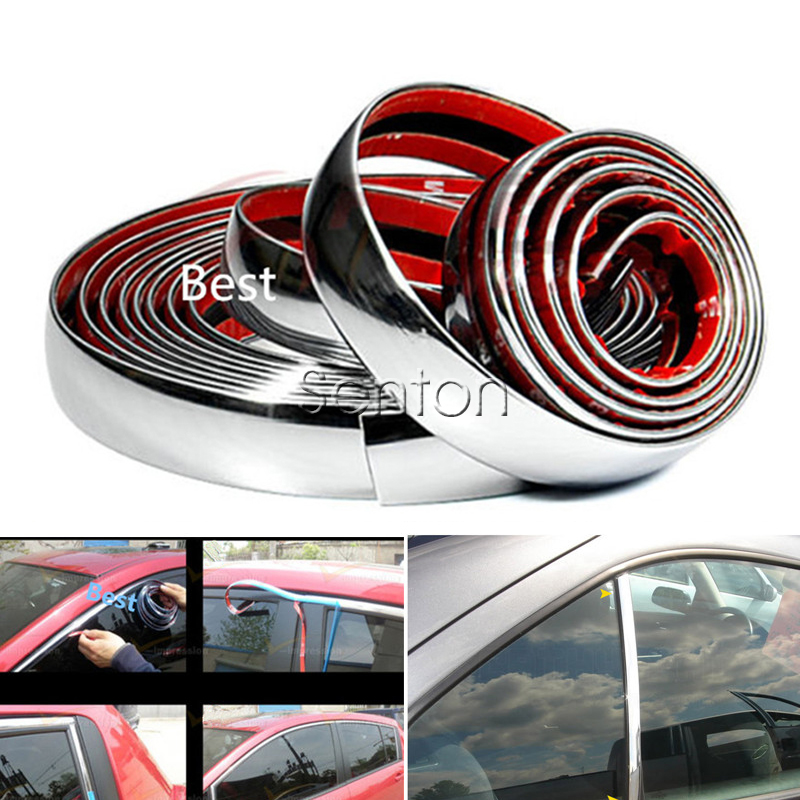 Car Stickers Chrome Decor Strip For Peugeot 307 206 308 407 207 2008 3008 508 406 208 Buick Fiat 500 Punto Stilo Accessories