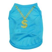 Dollar Gold Necklace Dog Clothing