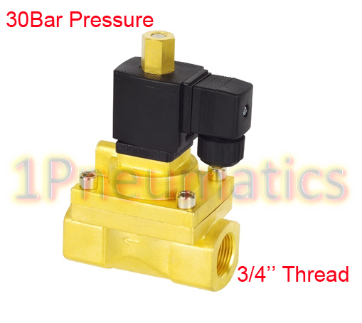 Free Shipping G3/4 Normally Open 30Bar High Pressure Solenoid Valve AC220V 1PC-5231020KFree Shipping G3/4 Normally Open 30Bar High Pressure Solenoid Valve AC220V 1PC-5231020K