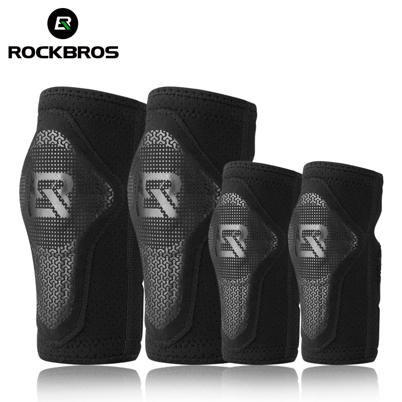 ROCKBROS Cycling Bike Children Elbow Pads Knee EVA Pads Breathable Kids Knee Pads Sport Safety Skiing Child Arm Leg Protect Pad
