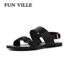 New Fashion Summer Shoes Women Sandals High Quality Sweet Female Sandals Non-slip Open Toe Woman Flats Shoes Casual Sandals(China)