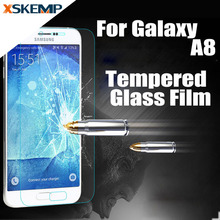 Explosion Proof Tempered Glass For Samsung Galaxy A8 A8000 Premium Screen Protector 2.5D 9H Real No Fingerprint Toughened Film