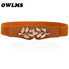Women Cummerbunds Belts For Women Dress Apparel Lady Belt Waist Pu Leather Black Women's Belts & Cummerbunds Gold Buckle elastic