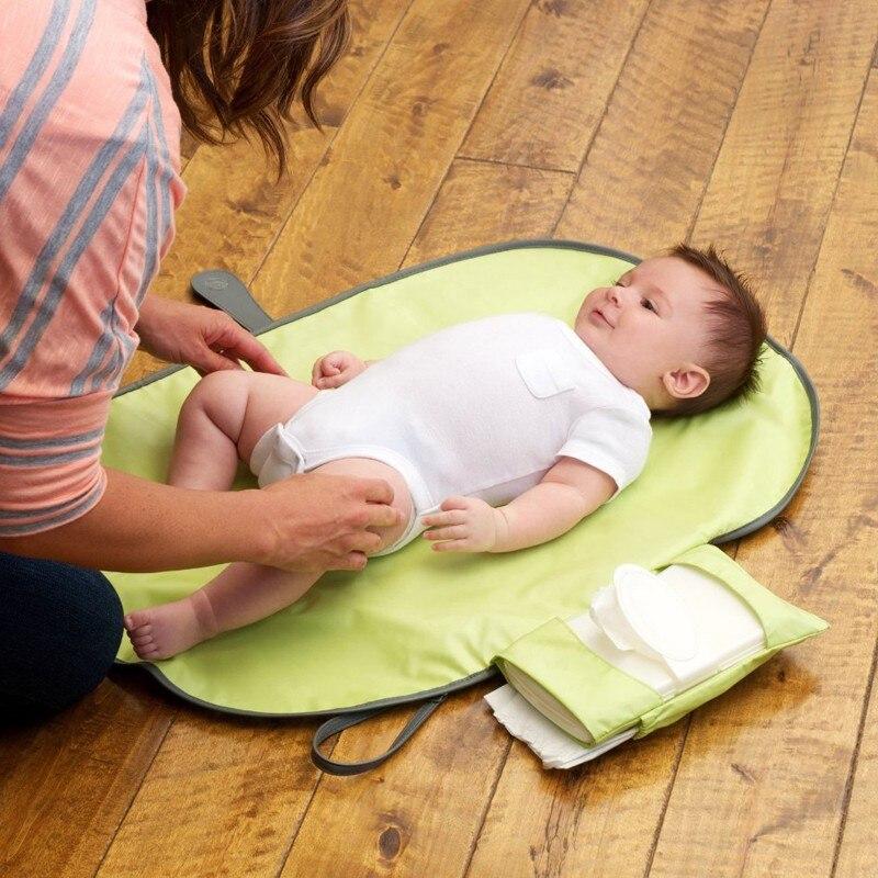Wasserdichte Tragbare Baby Windel Ändern Matte Wickelt Pad Reise Ändern Station Kupplung Mom Baby Pflege Hängt Kinderwagen