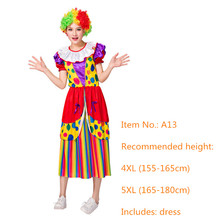 Circus Clown Cosplay Halloween Costume for Women + FREE Shipping