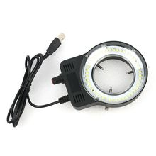 48 светодиодный SMD USB регулируемый кольцевой светильник осветитель лампа для промышленного Микроскопа промышленная камера Лупа 110 V-220 V