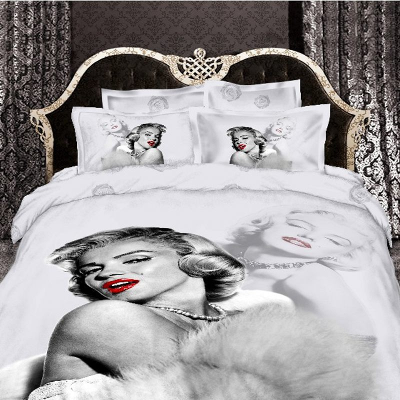 3d Marilyn Monroe Bedding Set Queen Size 100 Cotton Michael Jackson Us Uk Flag