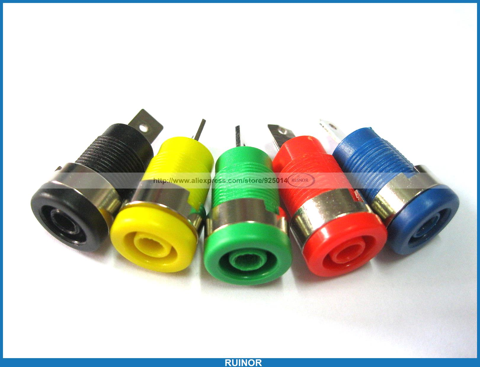 40 Pcs Binding Post Banana Jack for 4mm Safety Protection Plug 5 Colors SL2075 areyourshop sale 4 pcs double gold plated dual insulated binding post for 4mm banana jack plug power amplifier speakers
